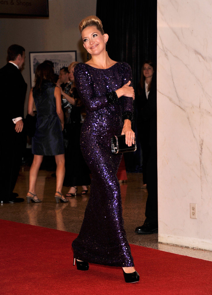 Kate Hudson walked the carpet at the White House Correspondant's Dinner.