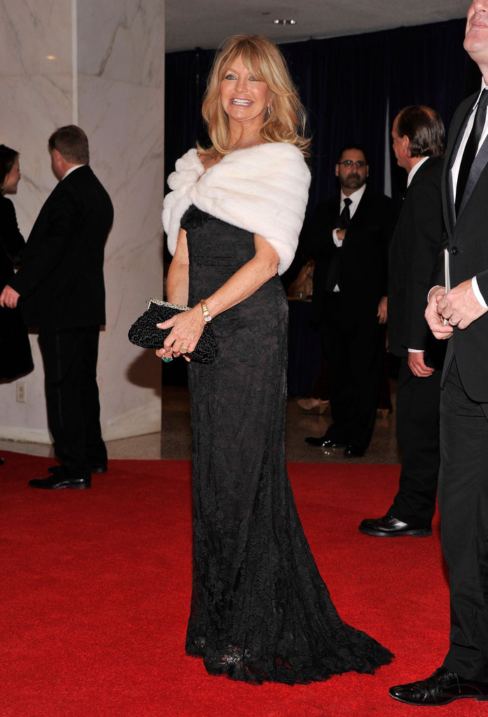 Goldie Hawn posed on the red carpet.