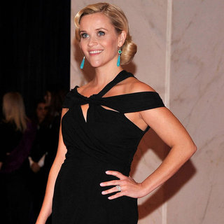 Reese Witherspoon White House Dinner Black Dress 2012