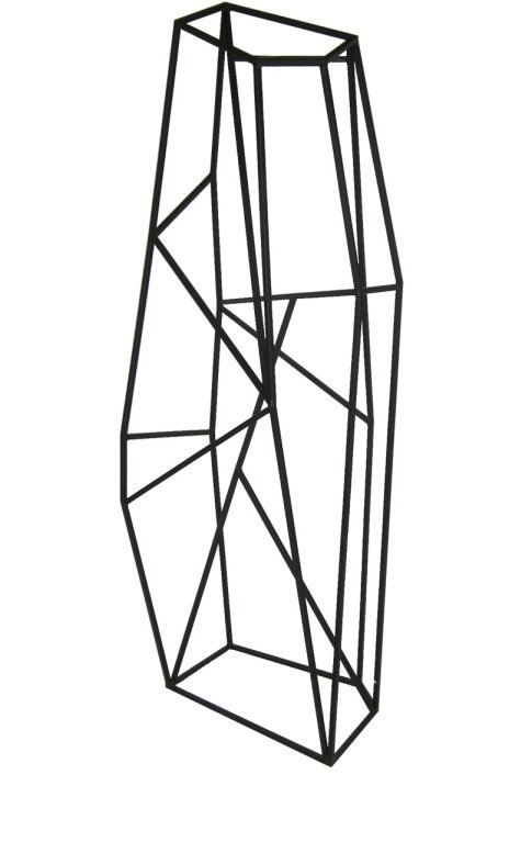 The Large Abstract Geometric Sculpture ($2,800) would look amazing in a formal garden.