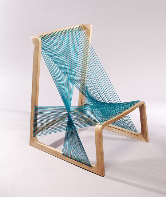 Absolutely graceful, the Alvi Design Silk Chair is an eco seating option that features silk thread tightened around a bearing oak frame.
