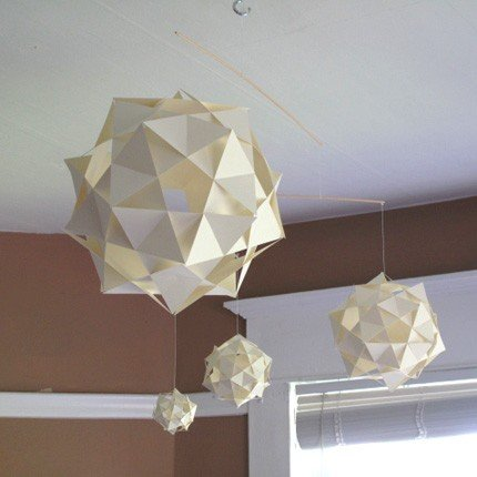 This cool Geometric Mobile ($42) would create the effect of stylized asteroids hanging from your ceiling.