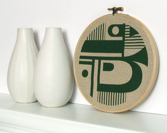 This Geometric Hoop Art ($12) looks like it came straight from a bohemian's Village apartment in the early '60s.