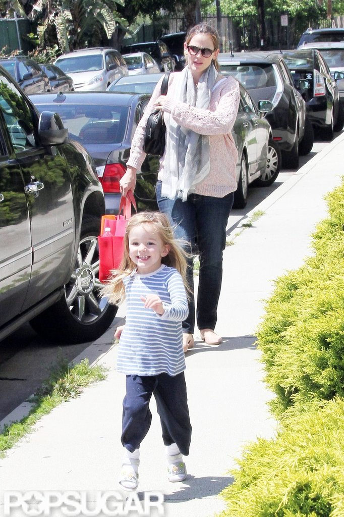 Jennifer Garner and Seraphina Affleck went to pick up Violet Affleck from a ballet class in LA.