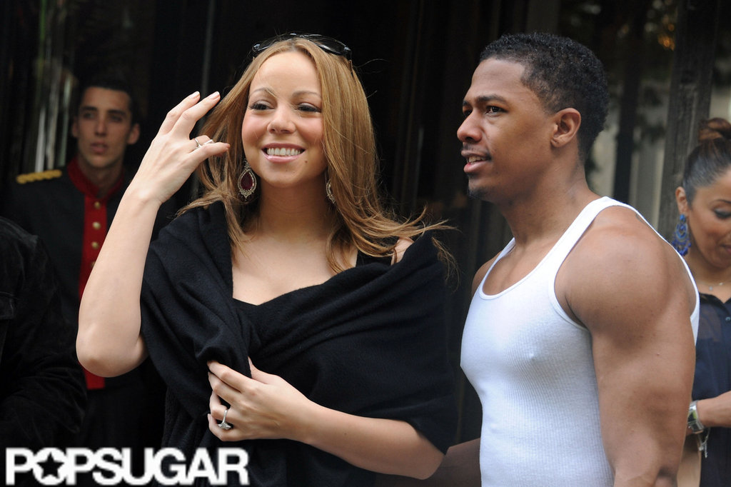 Mariah Carey and Nick Cannon looked happy together in Paris.