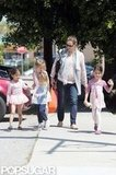 Jennifer Garner was surrounded by her daughters and their little friends in ballet outfits in LA.