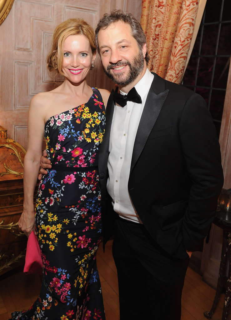 Leslie Mann and husband Judd Apatow posed together at the White House Correspondant's Dinner.