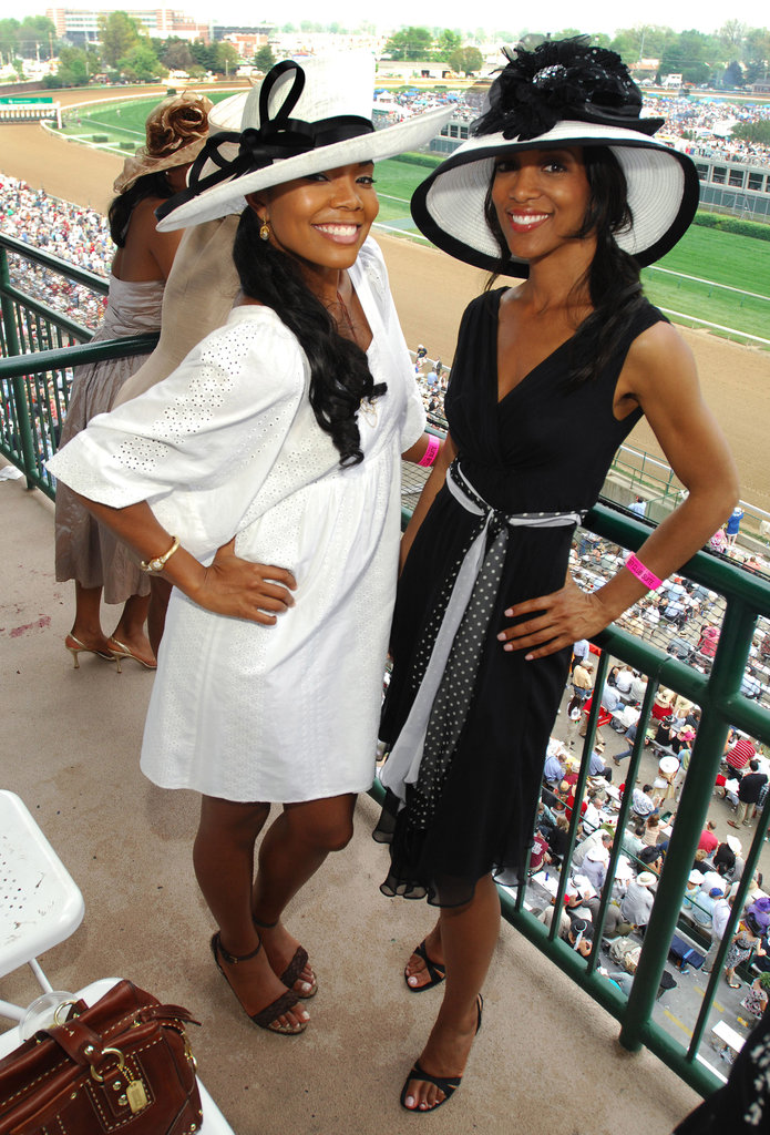 Gabrielle Union and a pal matched in black and white in 2007.