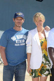 Peter Berg and Brooklyn Decker snapped a photo.