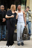 Mariah Carey and Nick Cannon checked out of their Paris hotel.