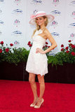 Marisa Miller posed on her way into the Kentucky Derby in 2010.