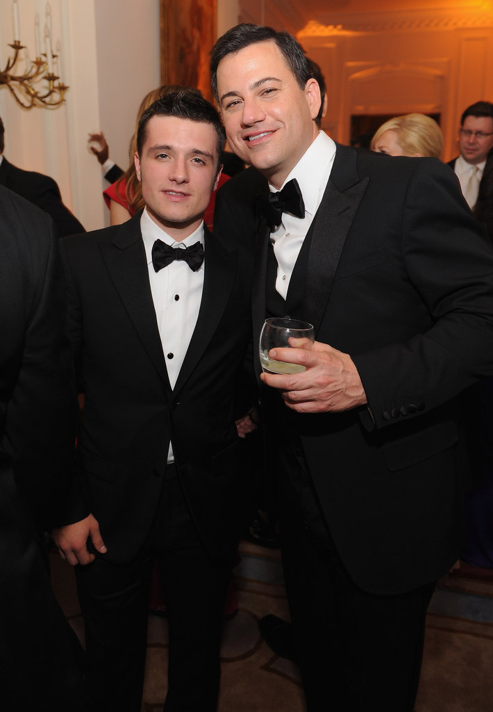 Jimmy Kimmel posed with Josh Hutcherson at the White House Correspondant's Dinner.