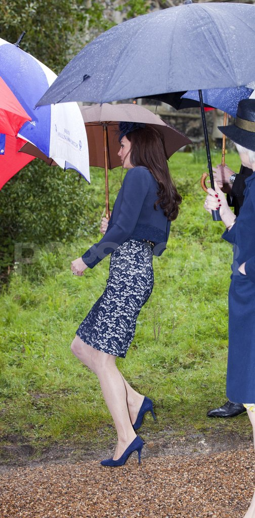 The Duchess of Cambridge, Kate Middleton, in Erdem at a wedding.