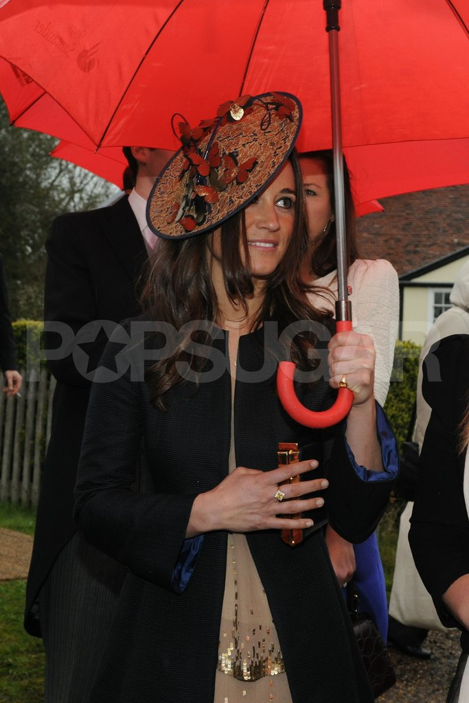 Pippa Middleton donned a hat.