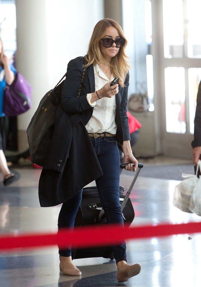 Lauren Conrad made her way through security at LAX.