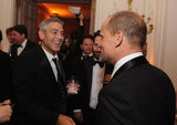 George Clooney was all smiles at the event.