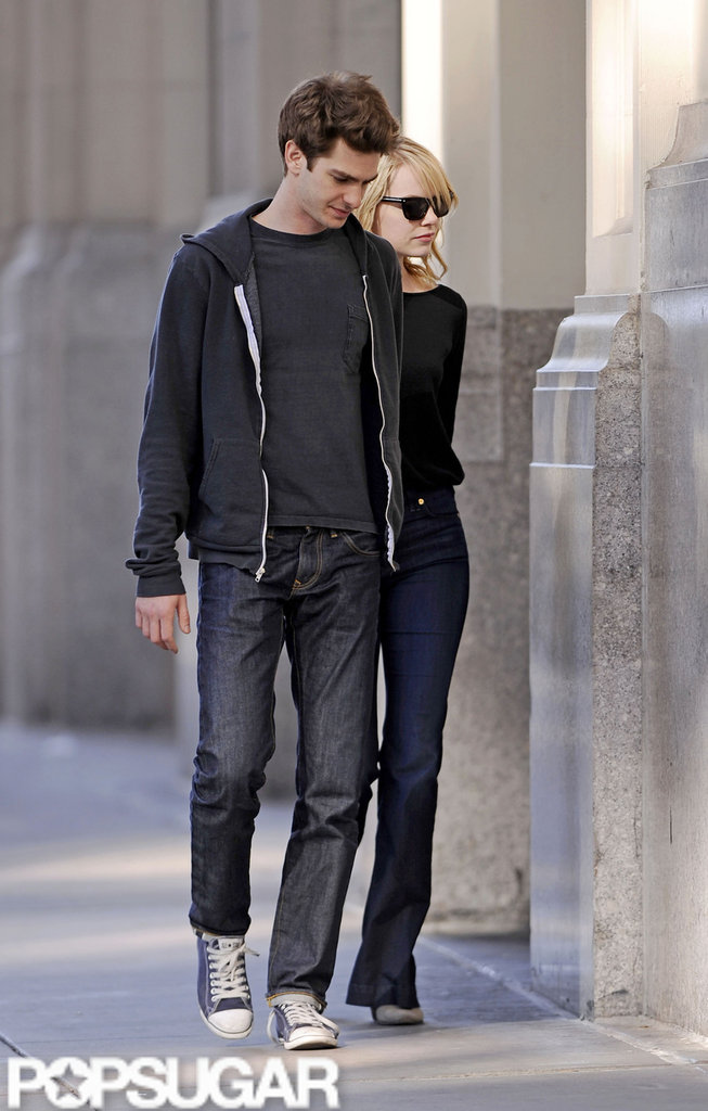 Emma Stone and Andrew Garfield took a walk hand-in-hand in NYC.