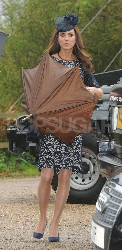 Kate Middleton attended a friend's wedding.
