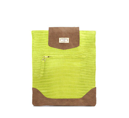 Be&D Lime Green Printed iPad Case ($220, on sale for $110)
