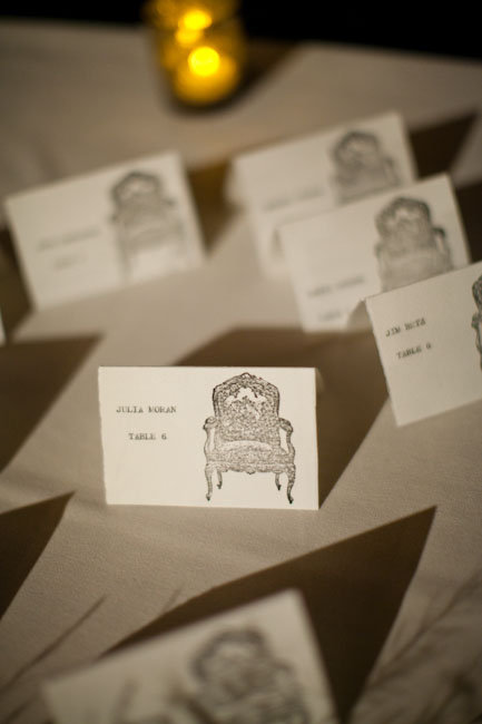 Antique Chair Escort Cards