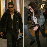 Kristen Stewart and Robert Pattinson Land in Vancouver For Breaking Dawn Part 2 Re-Shoots