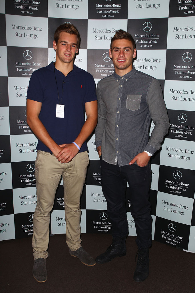 Dom Tyson and Stephen Coniglio around MBFWA