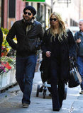 Rachel Zoe and Rodger Berman took a stroll through a Soho neighborhood.