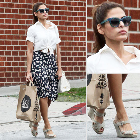 Eva Mendes Shows Us How Sexy '50s Style Is Done — Get Her Look Now