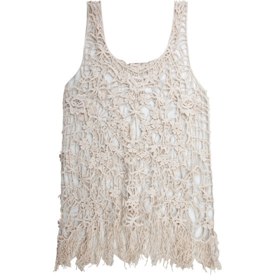Easy and breezy on its own, it's also the perfect lightweight layering piece for Summer.  Full Tilt Crochet Fringe Top ($23)