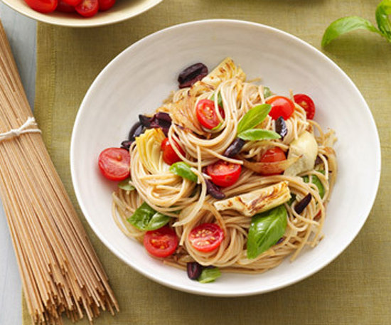 Whole-Wheat Pasta With Artichokes, Olives, and Tomatoes