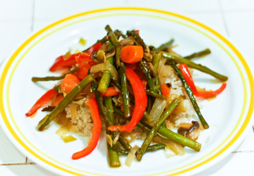 Sweet and Spicy Orange-Glazed Veggies