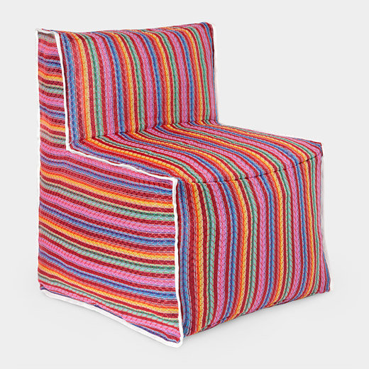 With the rainbow patterns of a traditional Mexican blanket, this Foldable Chair ($85) takes the same idea a step further.