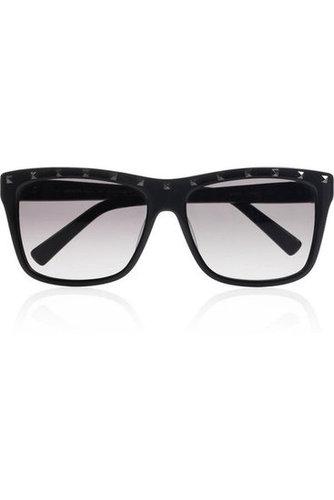 Valentino Rockstud D-frame acetate sunglasses NET-A-PORTER.COM