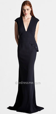 Carmen Marc Valvo Plunging Neckline Evening Dress ($765)