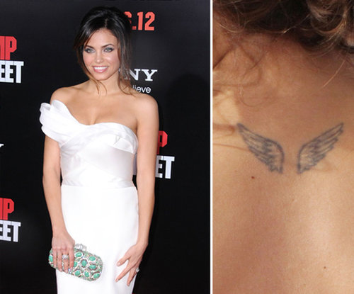 Jenna Dewan has a pair of wings tattooed on her upper back.
