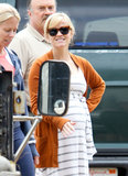 Reese Witherspoon smiled as she arrived in Bel Air to see the progress on her new home.