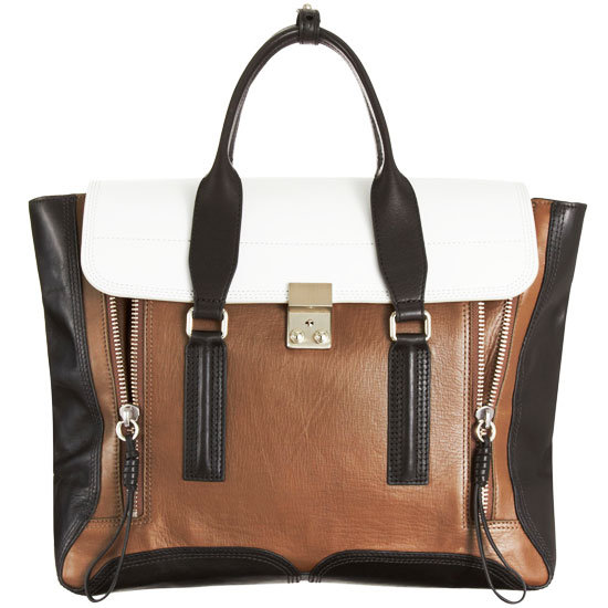 Lim does it again — we're obsessed with the vertical zippers on this polished colorblocked satchel.  3.1 Phillip Lim Pashli Colorblocked Satchel ($925)