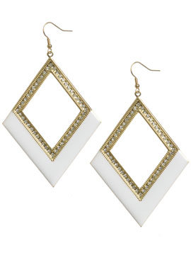 Arden B. Diamond Shape Colorblock Earrings ($24)