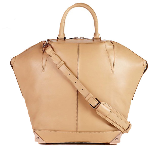 A toffee shade and a sleek, streamlined shape make this a go-to, every-occasion satchel.  Alexander Wang Emile Large With Rose Gold Hardware ($975)