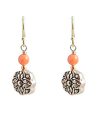 Barse Harmony Textured Disc Drop Earrings ($28)