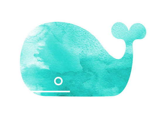 Black Cottage Handmade Whale Print ($12)