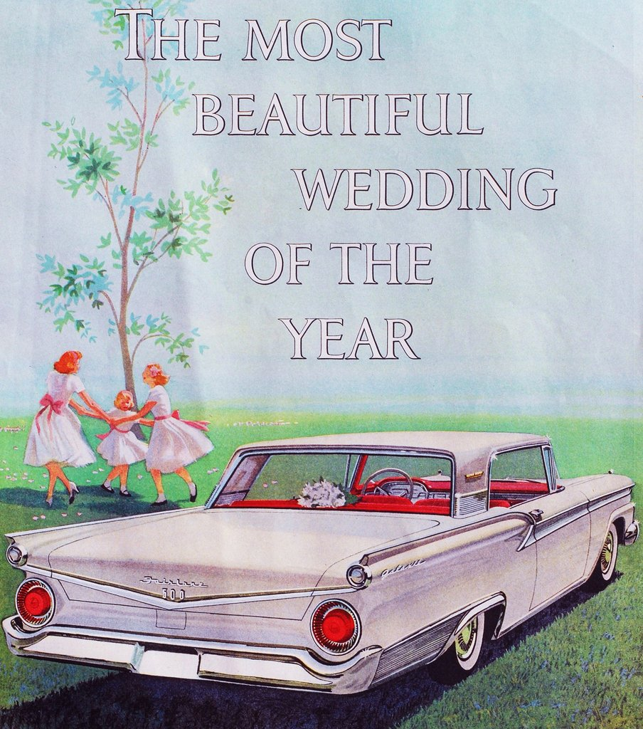 It was really the getaway car that made the wedding so beautiful.