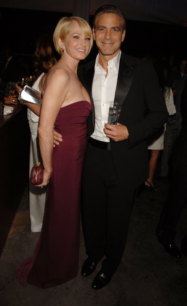 George Clooney and Ellen Barkin partied together at the Ocean's 13 afterparty in Cannes in May 2007.
