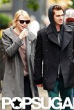 Emma Stone and Andrew Garfield held hands while walking in their NYC neighborhood.