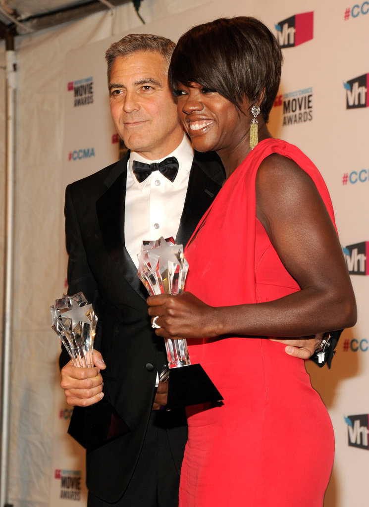 George Clooney and Viola Davis shared their Critics' Choice Awards excitement after both winning in January 2012.