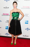 Emily Blunt's eye-catching Jason Wu frock boasted a rich emerald and black color combo – plus an elegant, feminine shape.