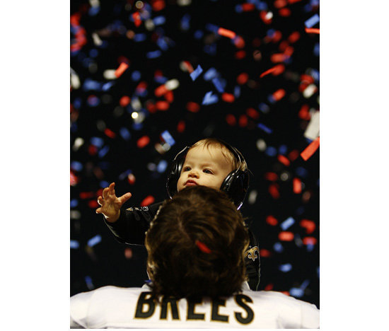 Drew Brees and Baylen