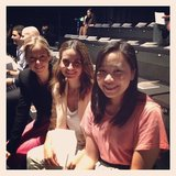 Ali, Marisa and Jess waiting for Oroton to start.