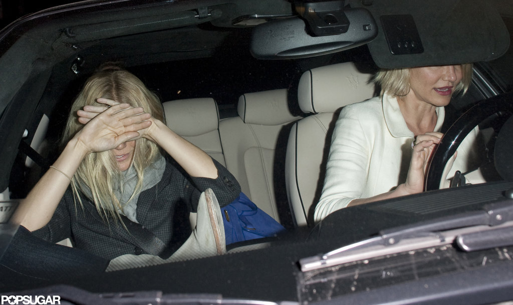 Cameron Diaz drove Gwyneth Paltrow home.