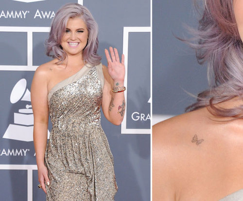 A little butterfly tattooed on her right shoulder is one of Kelly Osbourne's 15 tattoos.